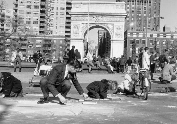 חצי יום בניו יורק עם ילדים   וושינגטון סקוואר, בית קפה עם קטע ושוק אומנים